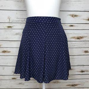Forever 21 Skirts - Forever 21 Navy Polka Dot Mini Flowy Skirt Size S